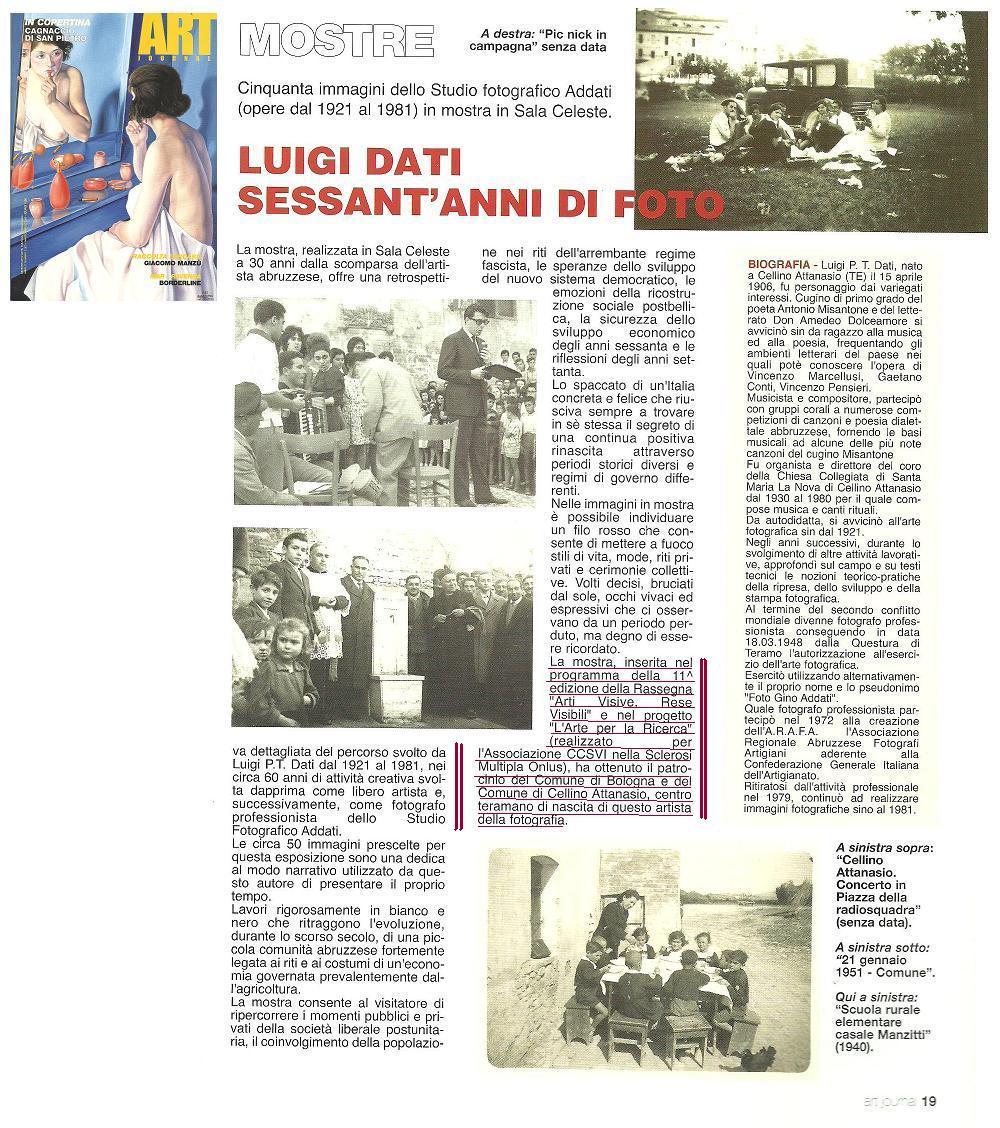 Luigi Dati e lo studio fotografico Addati
